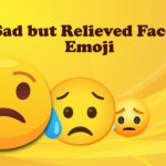 Sad but Relieved Face Emoji