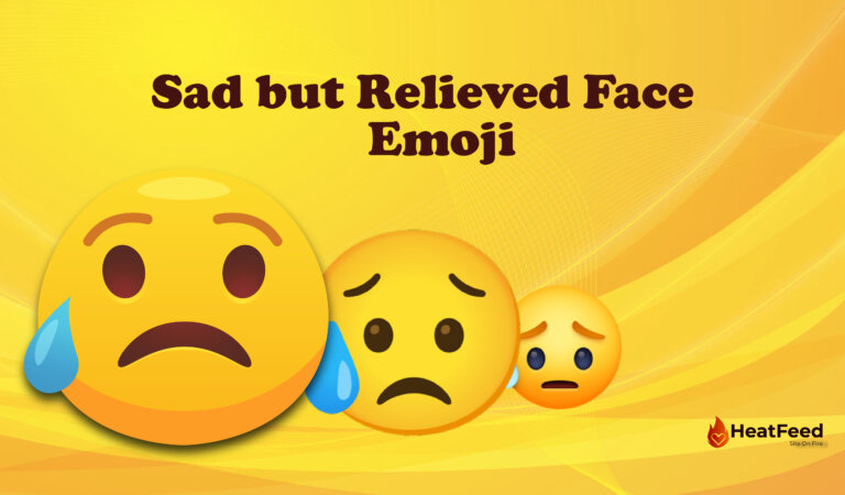😥 Sad but Relieved Face Emoji