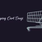 Shopping cart emoji