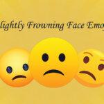 Slightly Frowning Face Emoji