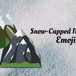 Snow capped mountain emoji