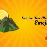 Sunrise over mountains emoji