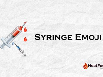 syringe emoji