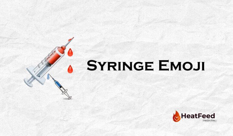 💉 Syringe Emoji