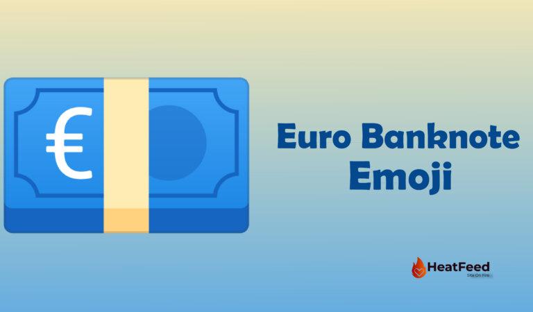 💶 Euro Banknote Emoji