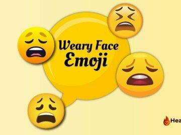 Weary Face Emoji