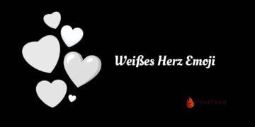 Weißes Herz Emoji