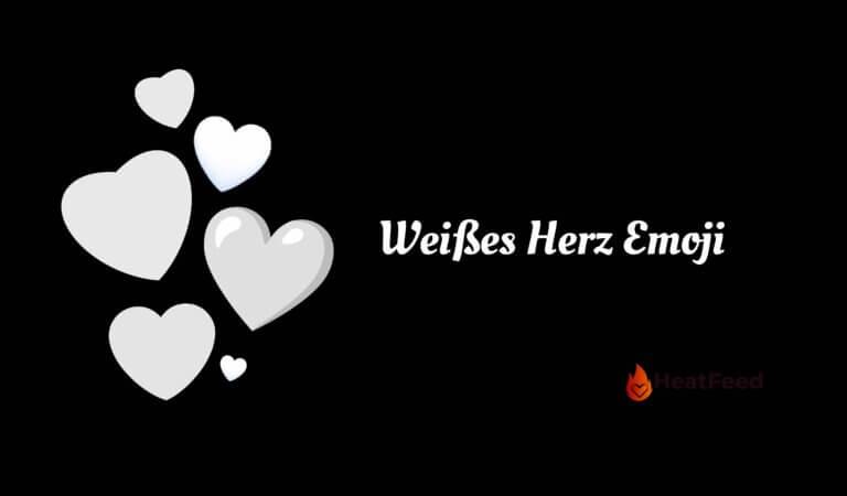🤍 Weißes Herz Emoji