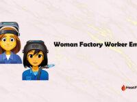 Woman Factory Worker Emoji