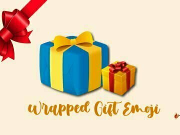 wrapped gift emoji
