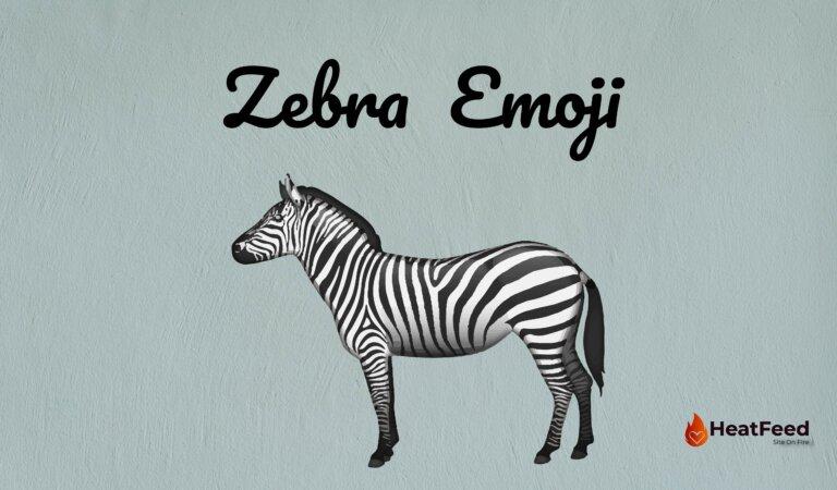🦓 Zebra  Emoji