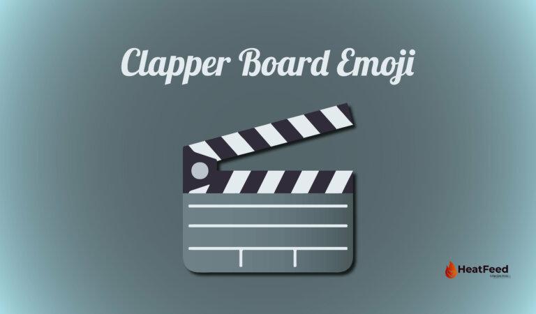 🎬 Clapper Board Emoji