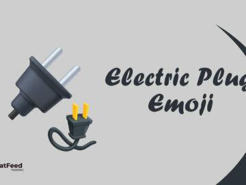 electric plug emoji