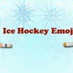 Ice hockey emoji
