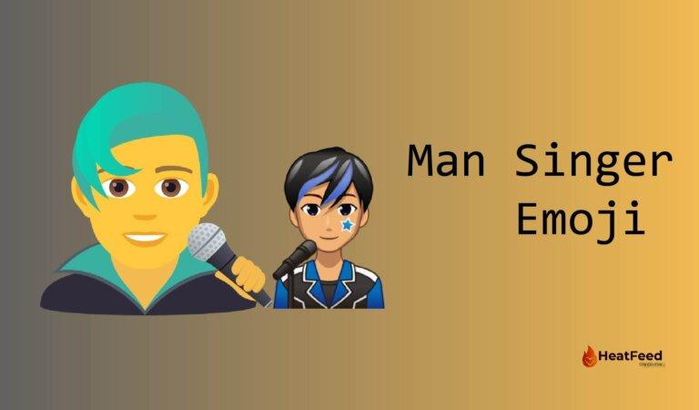 👨🎤 Man Singer Emoji