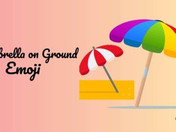 umbrella on ground emoji
