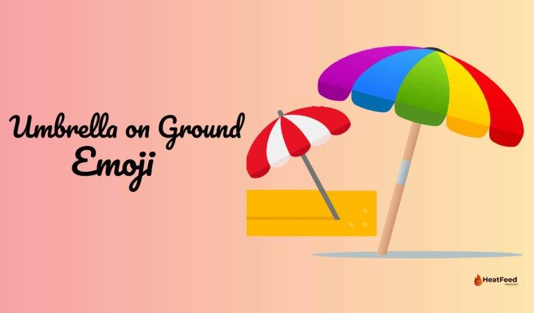 ⛱️Umbrella On Ground Emoji