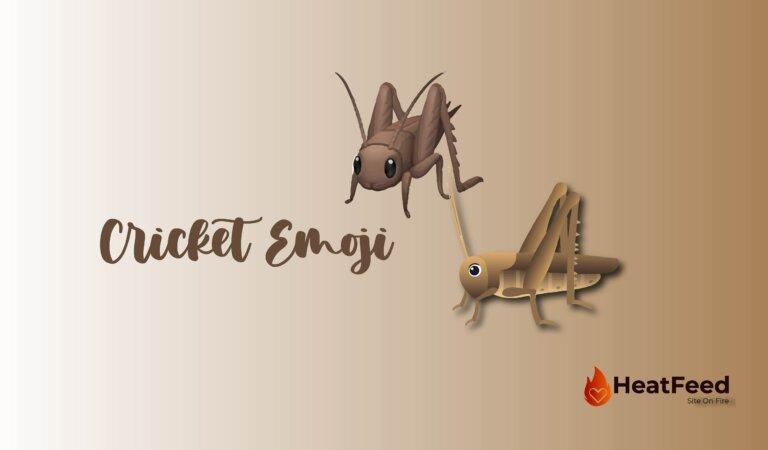 🦗 Cricket Emoji