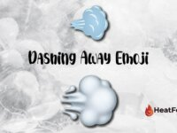 Dashing away emoji