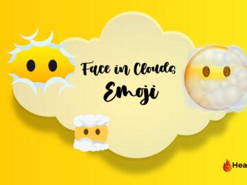 Face in Clouds Emoji