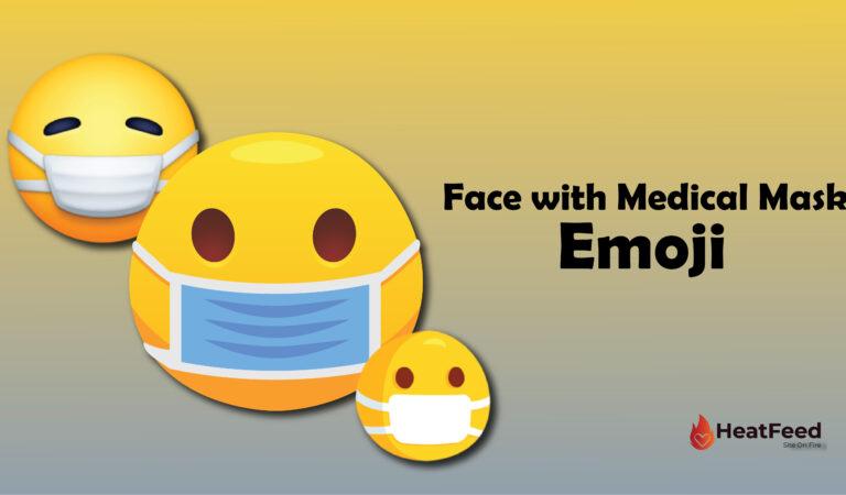 😷 Face with Medical Mask Emoji