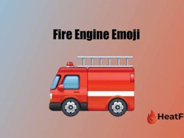 fire engine emoji