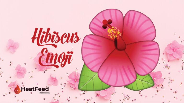hibiscus emoji