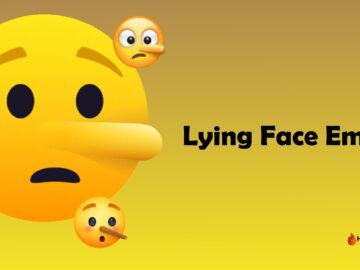 Lying Face Emoji