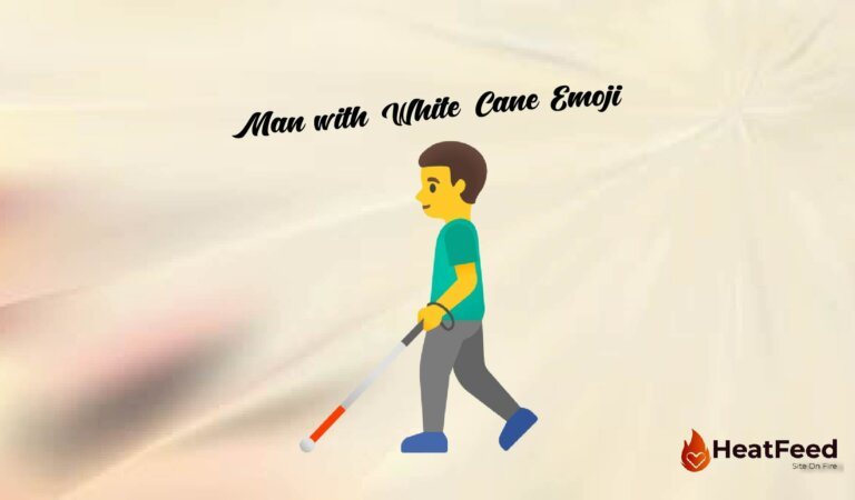 👨🦯Man with White Cane Emoji