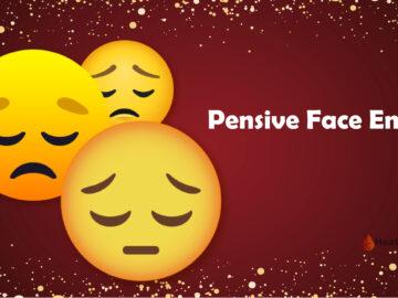 Pensive face Emoji