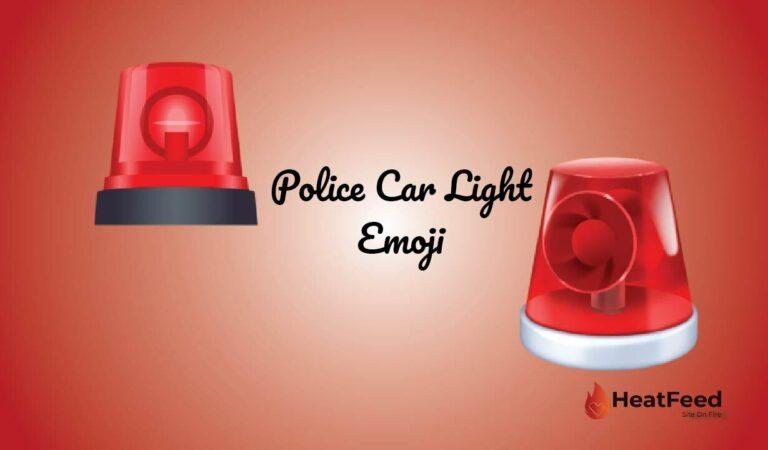 🚨 Police Car Light Emoji
