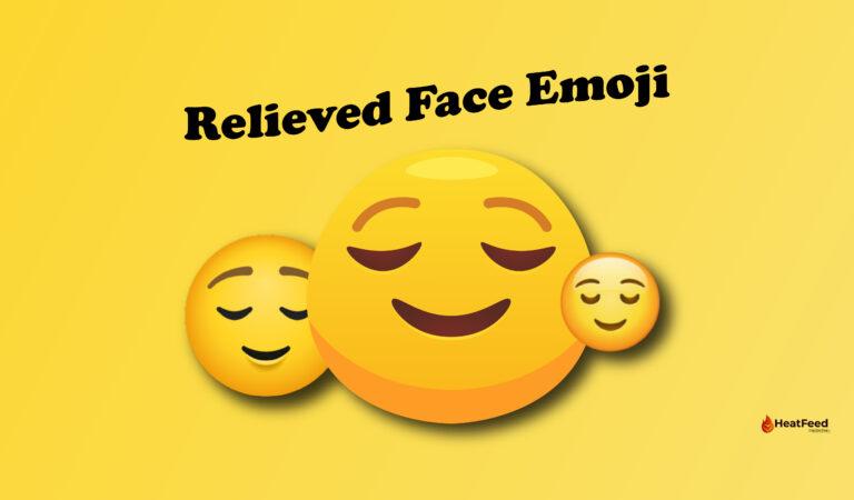 😌 Relieved Face Emoji