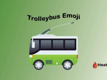 Trolleybus Emoji
