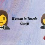 Woman in texedo emoji