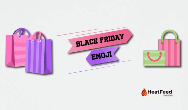🛍️ Black Friday Emoji