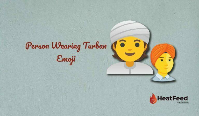👳 Person Wearing Turban Emoji