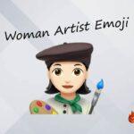 Woman artist emoji