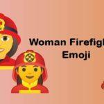 Woman firefighter emoji